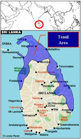 Sri Lanka is an Island located south of India.